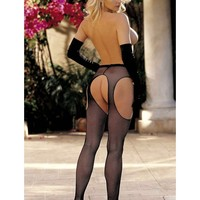 Shirley of hollywood IS-SOH-90044 Fishnet suspender pantyhose