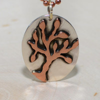 Tree Pendant in copper and sterling silver - Tree of Life Pendant