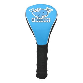 Narwhal I Believe Golf Head Cover