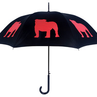 Walking Stick Umbrella, English Bulldog, Stick