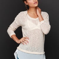 Snuggle Up Beige High-Low Sweater Top