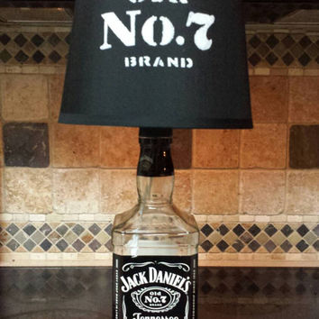 Jack Daniels Liquor Bottle Lamp and Shade
