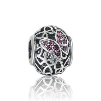Authentic Silver charm butterfly sterling silver charm fits pandora bracelet jewelry