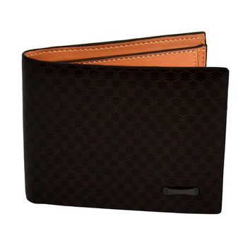Men Slim Leather Wallet Purse Pocket Card Clutch Bifold Stylish Dark Brown  D_L (Color: Dark brown) = 1708652932