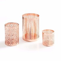 DanyaB Rose Gold Filigree Hurricanes Set of 3