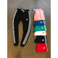 Adidas Casual Stripe Drawstring Man Women Sport Running Long Pants Sweatpants Trousers Six Color H-XYCL01