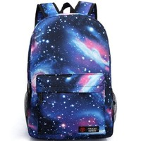 BEIER XK1 New Harajuku Galaxy Backpack Outer space Backpack Men and women Fashion Student Schoolbag (blue):Amazon:Shoes