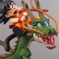 Figures Toy Dragon Ball Z Super Saiyan Goku with Dragon Riding PVC Action