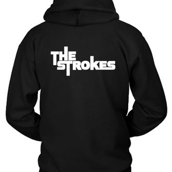 The Strokes Title Classic Hoodie Two Sided