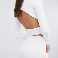 Kendall + Kylie Compact Crop Long Sleeve Top at asos.com
