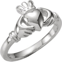 14K Yellow Youth Claddagh Ring