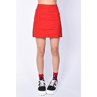 Teacher's Pet Red Mini Skirt