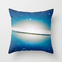 The little Galaxy (Majestic Sombrero Galaxy) Throw Pillow by Badbugs_art