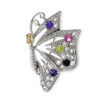 Colorful Butterfly Brooch