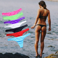 Bikini Bottoms  Semi V Thong Swimwear Summer Sexy Swimsuit Women Bathing Suit Beachwear 8 Color Avalable S/M/L/XL