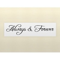 ALWAYS & FOREVER wall art quote decal