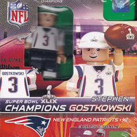 OYO Super Bowl 49 Champions New England Patriots Steven Gostkowski Limited Edition Minifigure