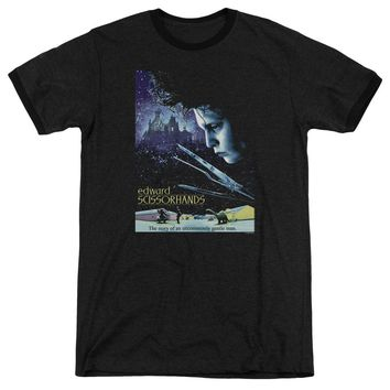 Edward Scissorhands - Poster Adult Heather Officially Licensed T-Shirt Short Sleeve Shirt