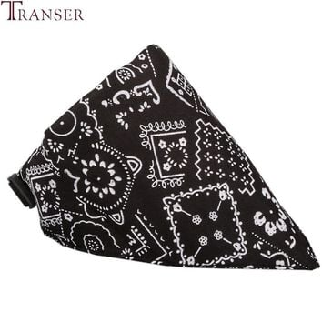 Transer Pet Dog Supplies Jacquard Print Dog Neckerchief Cowboy Scarf Bandana Dog Collars For Small Dog 80704