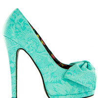 Light Blue Bunny Bunch Bow Platforms