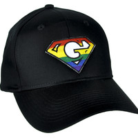 Super G Rainbow Gay Pride Hat Baseball Cap Alternative Clothing GLBT