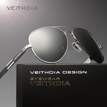 2017 VEITHDIA Aluminum Magnesium Alloy Brand Polarized Mens Sunglasses Sun Glasses Accessories Eyewear Male For Men oculos 6695
