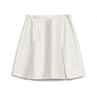 Jacquard Glenplaid Box Pleat Mini Skirt by Wes Gordon for Preorder on Moda Operandi