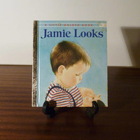 """Vintage 1973 Book """"Jamie Looks"""" - A little Golden Book / Kids Book / Great Condition / A Book About Learning"""