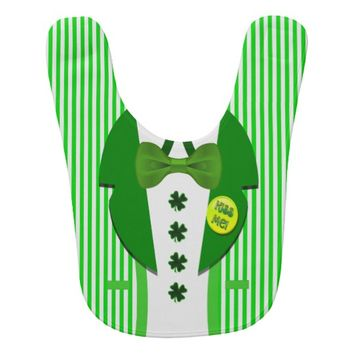 St. Patrick's Day Striped Jacket and Dress Shirt Baby Bib