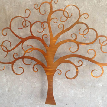 Bronze Tree of Life Metal Wall Art- Brown Art - Tree Art- Abstract Art - Wall Art - Metal Art