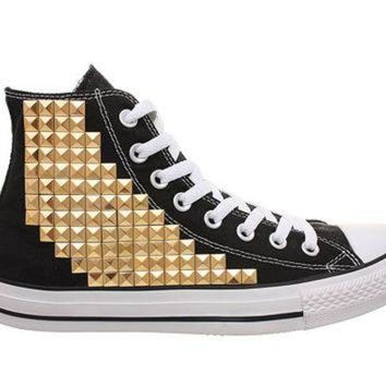 Shop Studded High Top Converse on Wanelo 093f4a815