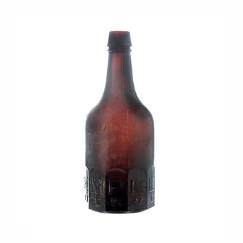 A. Templeton Cream Ale, Antique Beer Bottle, Louisville, KY, Squat Amber Beer Bottle, Mug Base, Hand Blown Bottle, Collectible Bottle