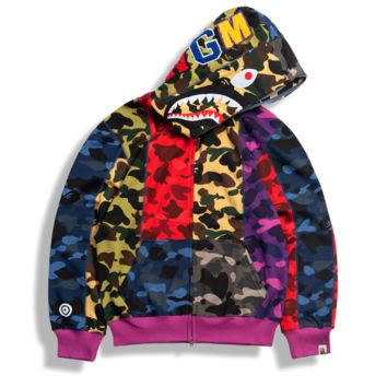Casual Camouflage Stitching Thin Cap Jacket [4166208684068]