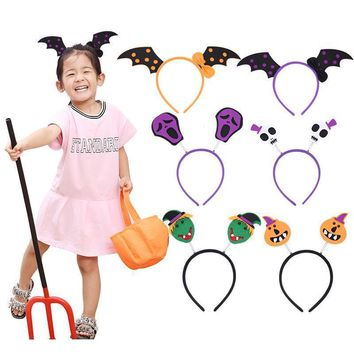 Hot Sale Cute Halloween Hairband Head Band Pumpkin Witch Skull Headress Party Decorations Fantastic Festival Hair Accessories A3