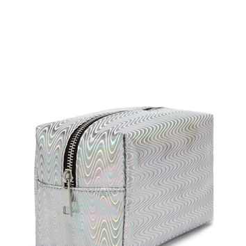 Holographic Wavy Makeup Bag