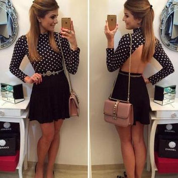 On Sale TWO-PIECE DRESS SEXY DOT DRESS