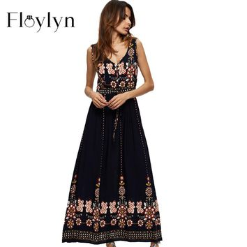 Boho Maxi Dress (Plus Size)