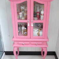 Hot Pink Display Cabinet by CHAIRCANDY on Etsy