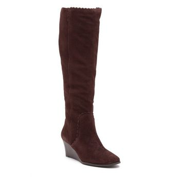 Jack Rogers Women's Mia Suede Knee-High Wedge Boot