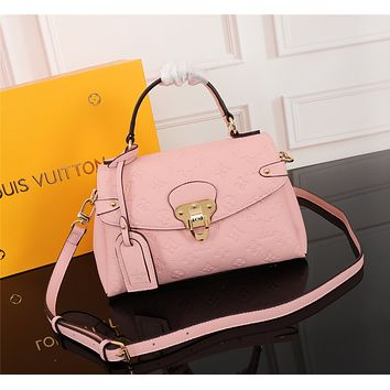 LV Louis Vuitton MAGICLOOK ON THE GO Inspired Style Women Handbag Tote Shoulder Extremely Large 33x23x15 cm Bag Brown Monogram Plus Reverse Universal Color Organizer Onthego Bag made of Canvas pink