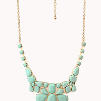FOREVER 21 Sleek Cluster Bib Necklace