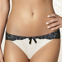 The Intimate Britney Spears Amaryllis Hipster Thong Panty 81116 at BareNecessities.com