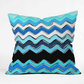 Sharon Turner Ocean Chevron Throw Pillow