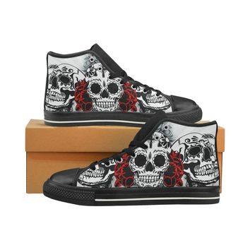 Sugar Skull #3 Classic High Top Canvas Shoes For Men/Women/Kids