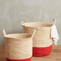 Dipped Sisal Baskets by Anthropologie Light Red Set Of 2 Office