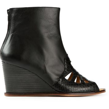 MM6 By Maison Martin Margiela cut out wedge boots