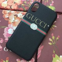 GUCCI Fashion Print iPhone Phone Cover Case For iPhone 6 6s 6plus 6s-Plus 7 7plus 8 8plus iPhone X XR XS XS MAX