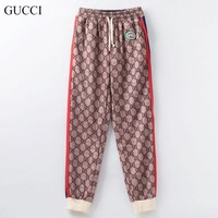 GUCCI New fashion more letter print couple sports leisure pants