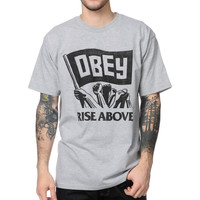 Obey Rise Above Heather Grey Tee Shirt