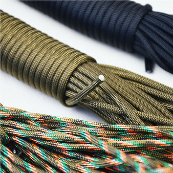 Dia. 2mm 50 feet  one stand Cores Paracord for Survival Parachute Cord Lanyard Camping Climbing Camping Rope Hiking Clothesline
